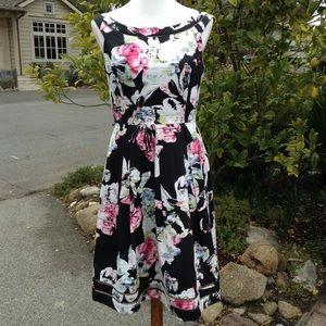 White House Black Market Floral Fit & Flare Dress